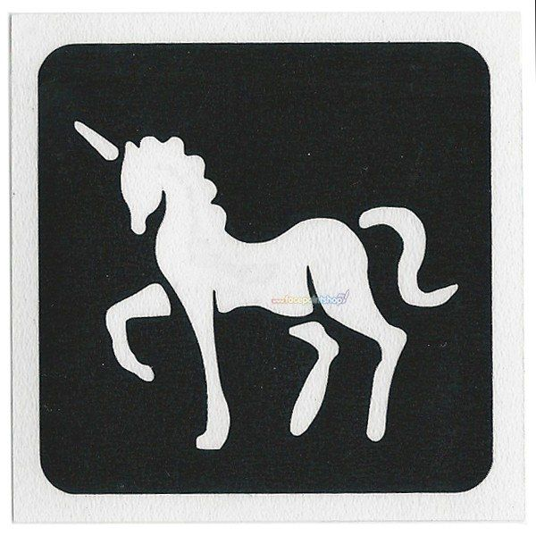 Glittertattoo Sjabloon Unicorn (5 pack)