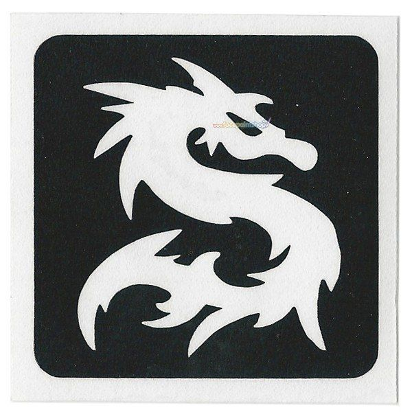 Glittertattoo Sjabloon Dragon (5 pack)