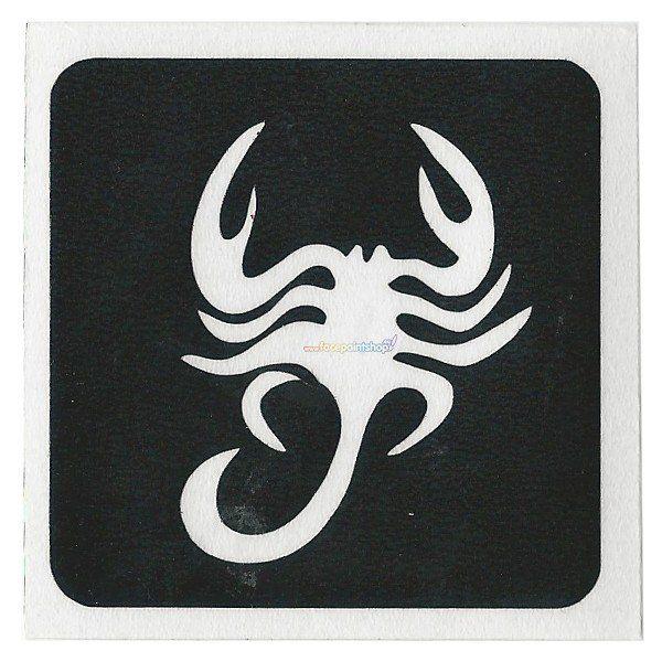 Glittertattoo Sjabloon Scorpion (5 pack)