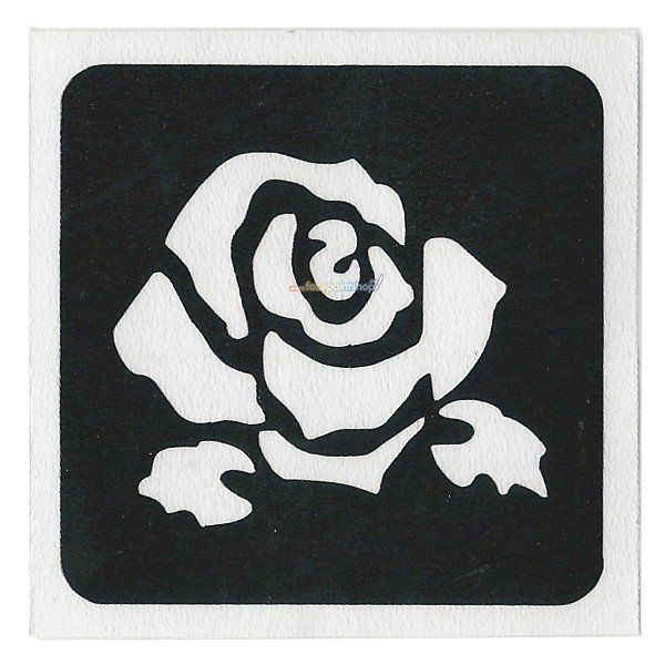 Glittertattoo Sjabloon Rose Bud (5 pack)