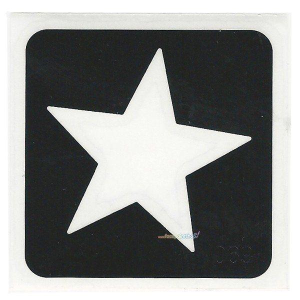 Glittertattoo Sjabloon Star (5 pack)