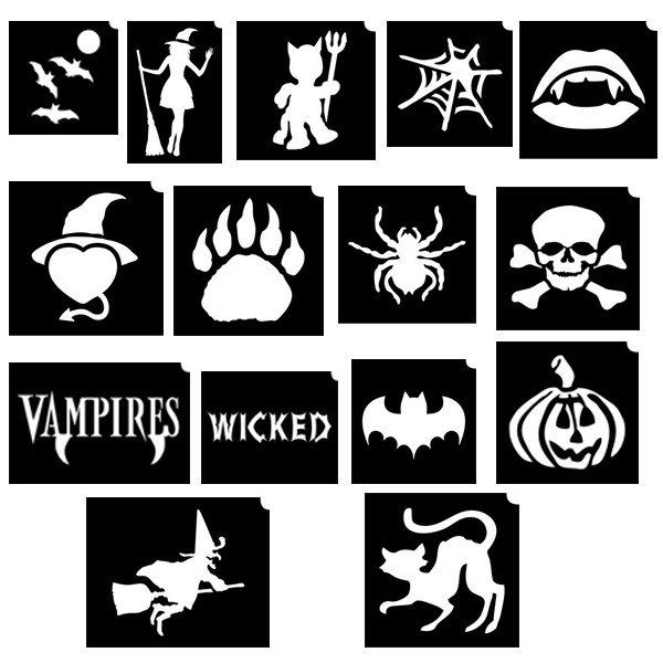Glimmer Winter Spooktacular Stencil Set with poster