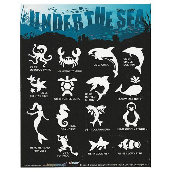 Glimmer Under The Sea Stencil Set met poster