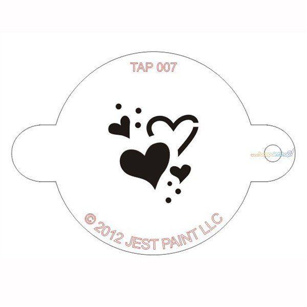 Tap Facepaint Stencil Hearts