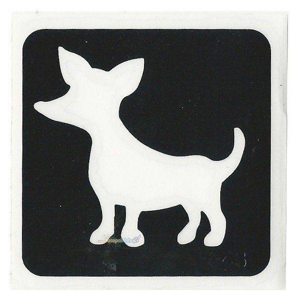 Glittertattoo Sjabloon Chihuahua (5 pack)