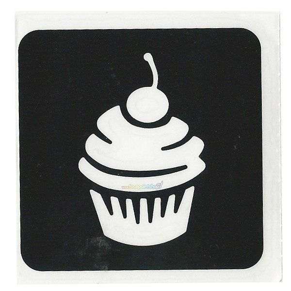 Glitter Stencil Cupcake (5 pack)