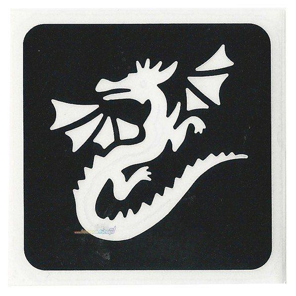Glittertattoo Stencil Flying Dragon (5 pack)
