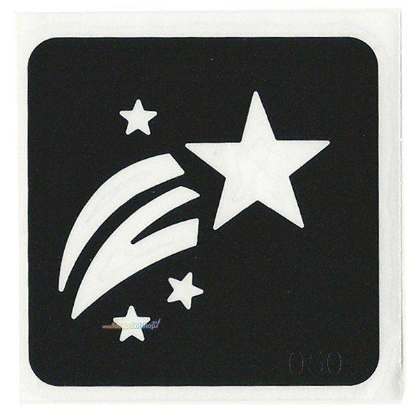 Glittertattoo Stencil Shooting Star (5 pack)