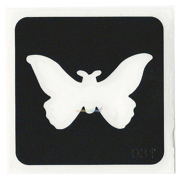 Glittertattoo Sjabloon Butterfly (5 pack)