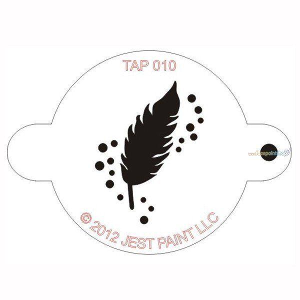 Tap Facepaint Stencil Feather