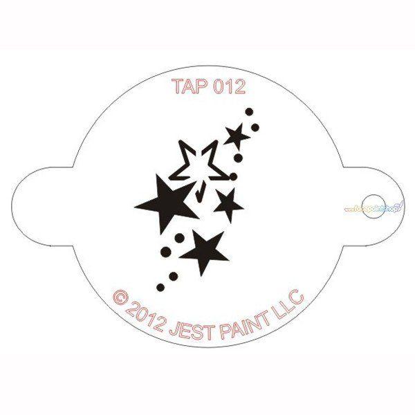 Tap Facepaint Stencil Stars