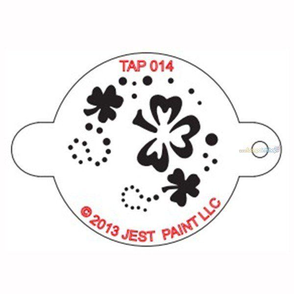 Tap Facepaint Stencil Schamrock