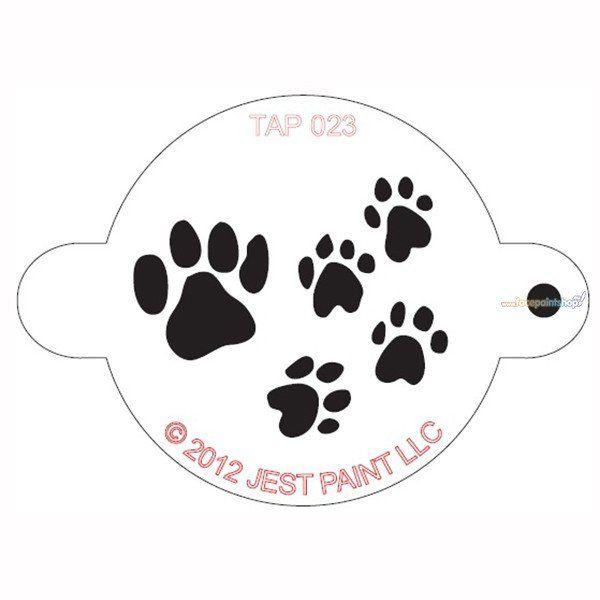 Tap Facepaint Stencil Paw Prints