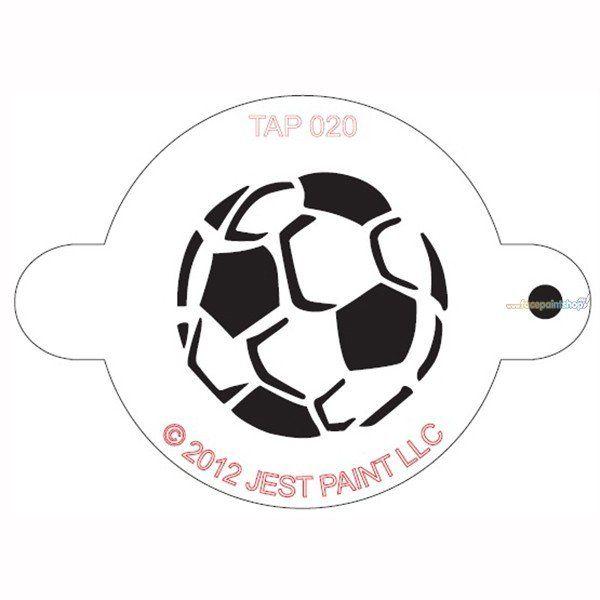 Tap Facepaint Stencil Soccer