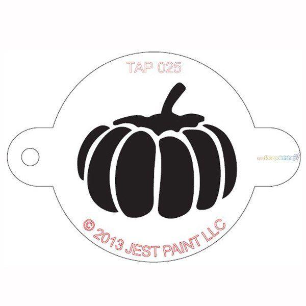 Tap Facepaint Stencil Pumpkin
