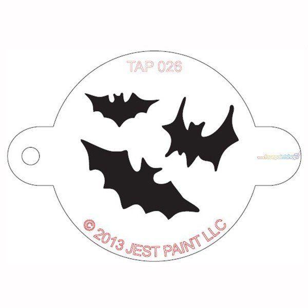 Tap Facepaint Stencil Bats