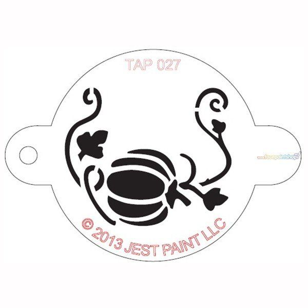 Tap Facepaint Stencil  Pumpkin with Vine