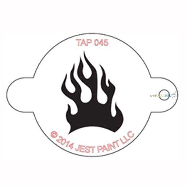 Tap Schmink Sjabloon Fire Flame