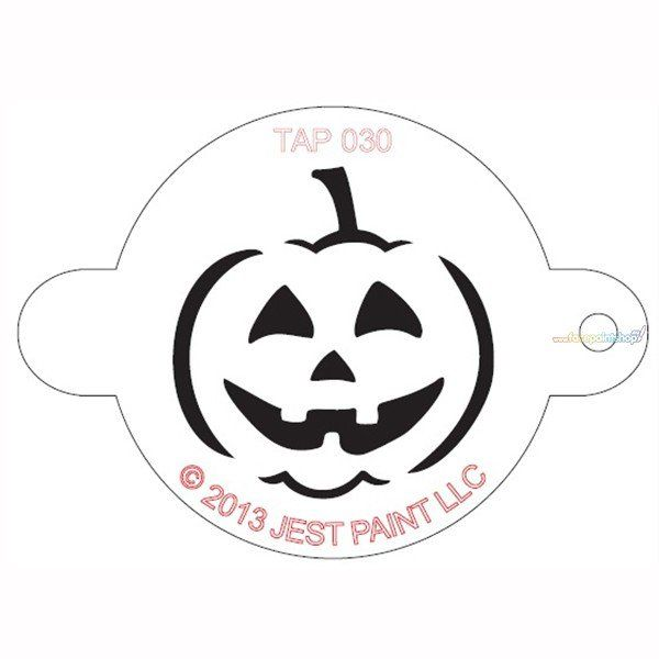 Tap Face Painting Stencil Jack O'Lantern