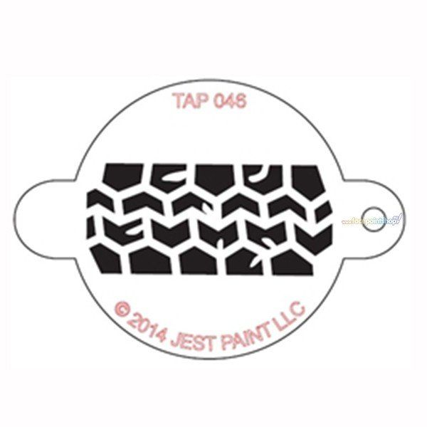 Tap Face Painting Stencil Tire track