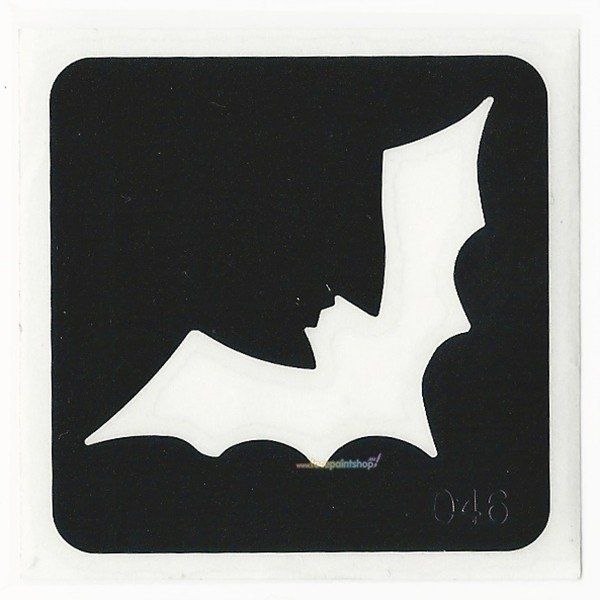 Glittertattoo Stencil Bat  (5 pack)