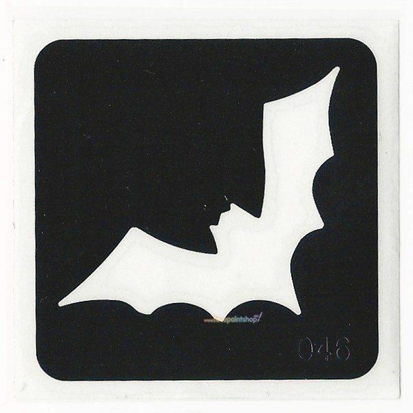 Glittertattoo Sjabloon Bat (5 pack)
