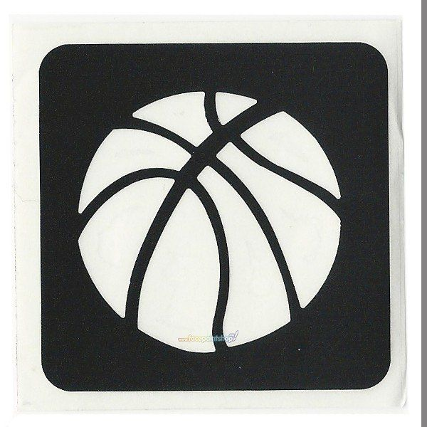 Glittertattoo Stencil Basketbal (5 pack)