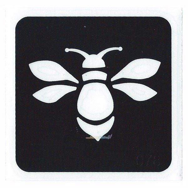 Glittertattoo Stencil Bumble Bee (5 pack