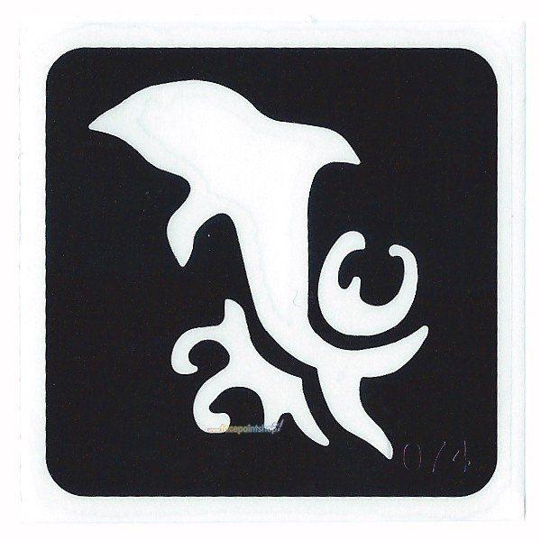 Glittertattoo Stencil Dolphin Wave (5 pack)