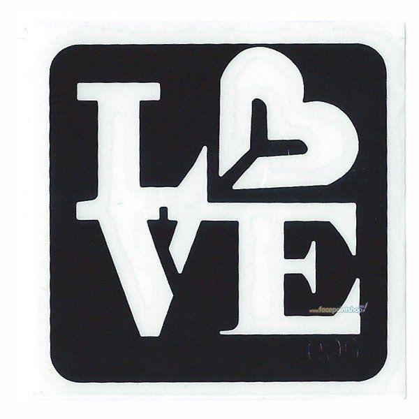 Glittertattoo Stencil Love (5 pack)