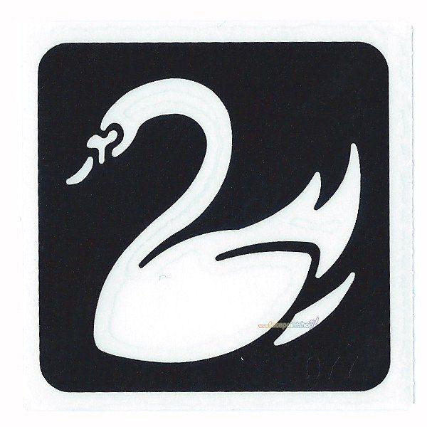 Glittertattoo Sjabloon Swan (5 pack)