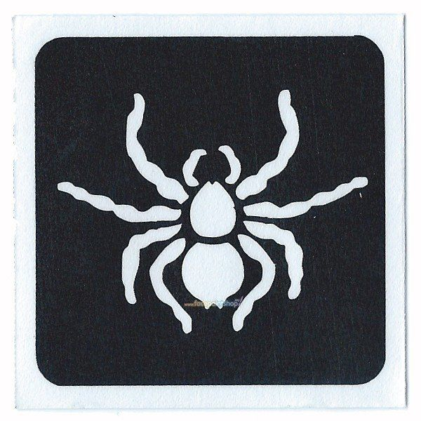 Glittertattoo Stencil Spider (5 pack) (21687)
