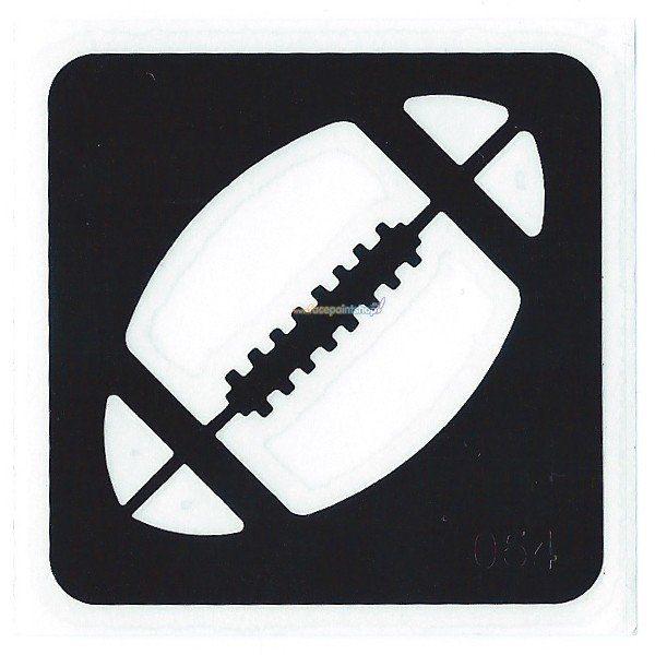 Glittertattoo Sjabloon Footbal (5 pack)