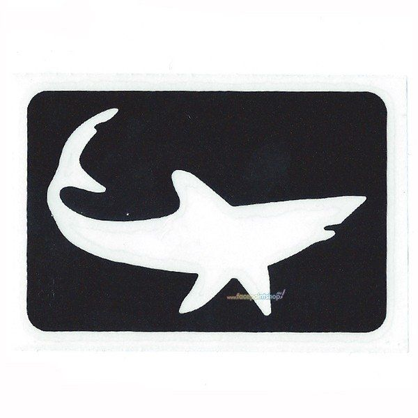 Glittertattoo Sjabloon Shark (5 pack)