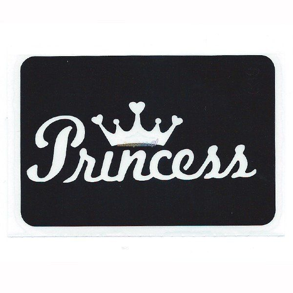 Glittertattoo Stencil Princess (5 pack)