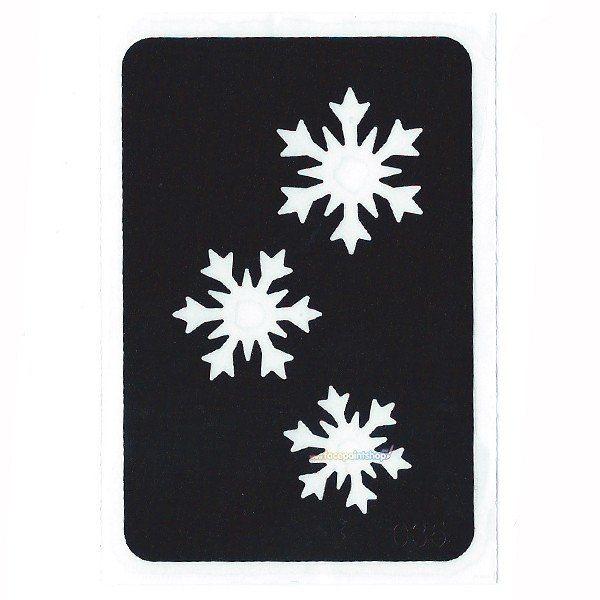 Glittertattoo Stencil Cascading Snowflakes (5 pack)