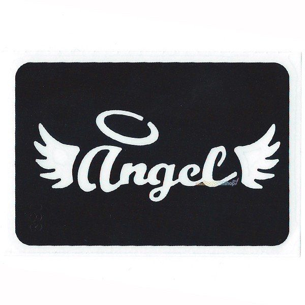 Glittertattoo Stencil Angel (5 pack)