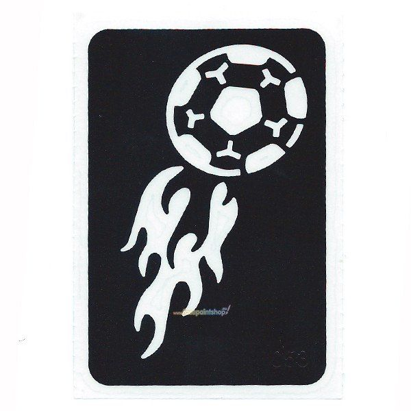Glittertattoo Sjabloon Soccer Flames (5 pack)