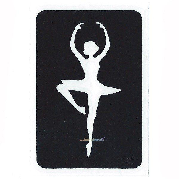 Glittertattoo Sjabloon Ballerina (5 pack)