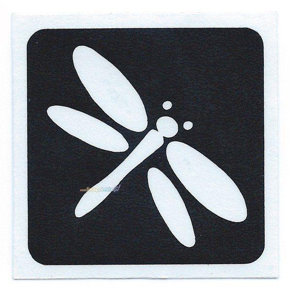 Glittertattoo Stencil Dragonfly (5 pack)