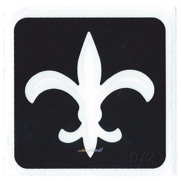Glittertattoo Stencil Fleur De Lis (5 pack)