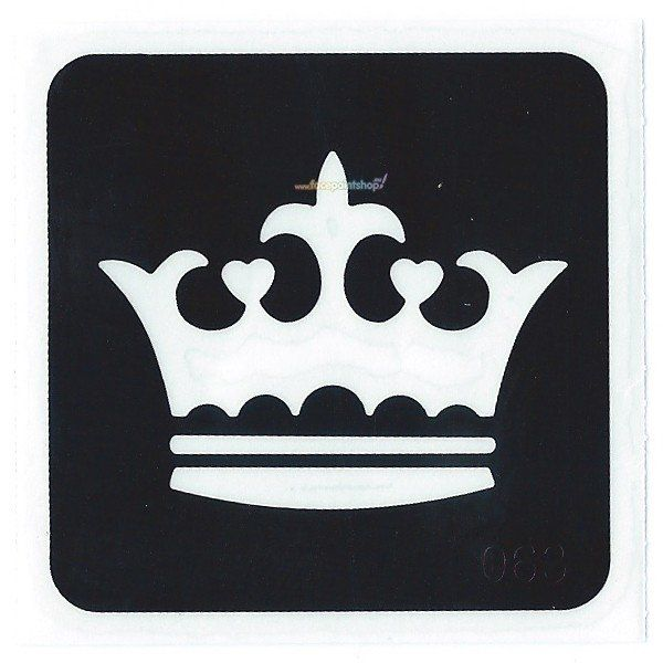 Glittertattoo Stencil Royal Crown (5 pack)