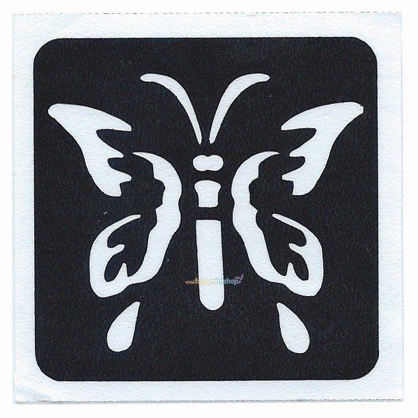 Glittertattoo Stencil Spring Butterfly (5 pack)