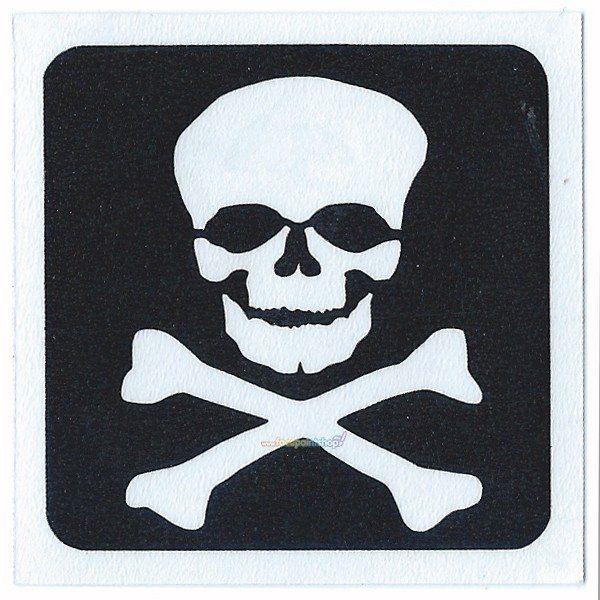 Glittertattoo Sjabloon Skull (5 pack)