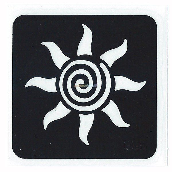 Glittertattoo Sjabloon Sun Swirl (5 pack)