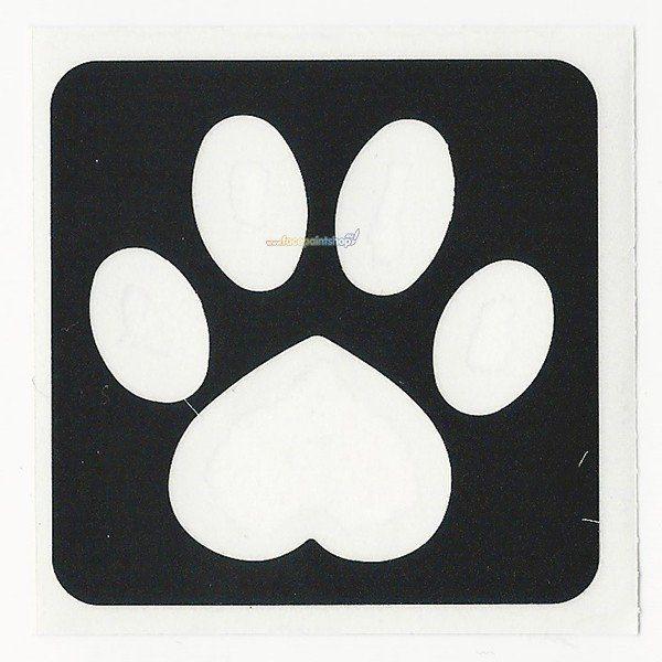 Glittertattoo Stencil Heart Paw (5 pack)