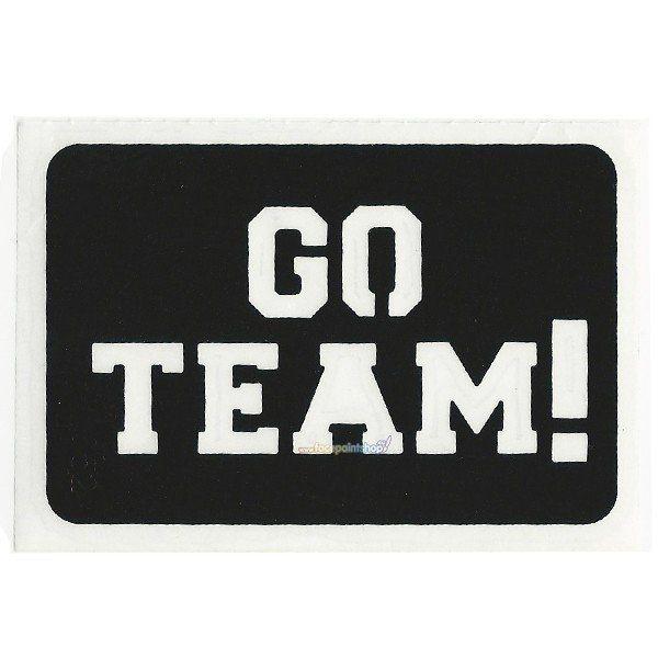 Glittertattoo Stencil Go Team (5 pack)