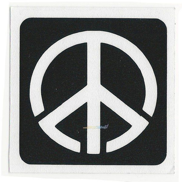 Glittertattoo Sjabloon Peace (5 pack)