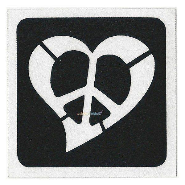 Glittertattoo Stencil Heart Peace (5 pack)
