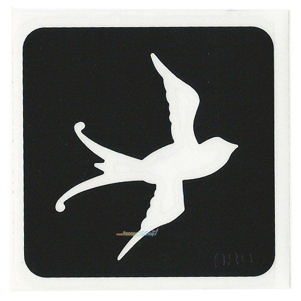 Glittertattoo Sjabloon Swallow (5 pack)